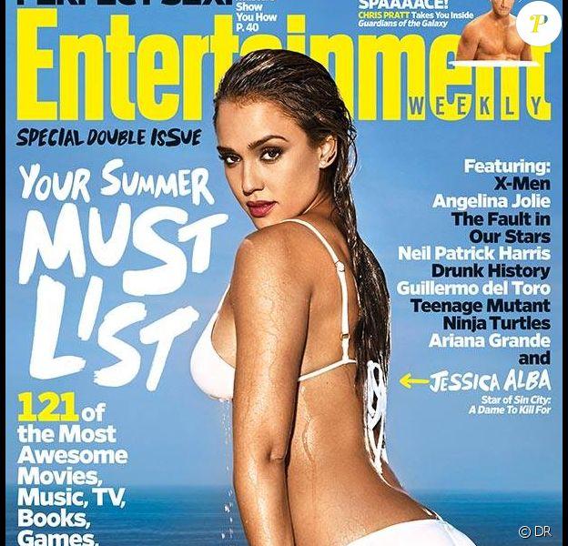 Jessica Alba, en couverture du magazine Entertainment Weekly. Numéro du 30 mai 2014.