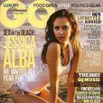 Jessica Alba en couverture du magazine GQ. Août 2007.