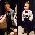 Egypt, mannequin preppy lors du défilé de mode pour la ligne enfants de Ralph Lauren. New York, le 19 mai 2014.