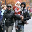 Alicia Keys, Swiss Beatz et leur fils Egypt à New York, le 3 novembre 2013.