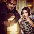 Kanye West et Kim Kardashian lors de leur brunch de mariage au château de Wideville. Crespières, le 23 mai 2014.