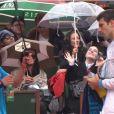 Novak Djokovic a fait le show avec un ramasseur de balles lors du second jour des internationaux de France, à Roland-Garros, le 26 mai 2014