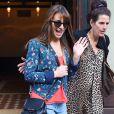 Lea Michele, très souriante, à la sortie de son hôtel à New York, le 20 mai 2014