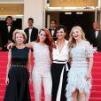 Kristen Stewart, Juliette Binoche et Chloé Grace Moretz lors du 67 ème Festival du film de Cannes, le 23 mai 2014.