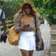 Serena Williams s'offre un bain de soleil sur une plage à Miami, le 31 mai 2014.