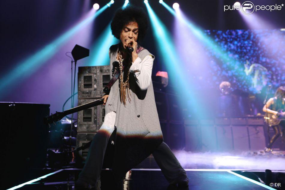Prince au Zénith de Paris, le 1er juin 2014. Le chanteur y a donné deux concerts d'affilée.