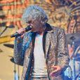 Bob Geldof en concert avec son groupe les Boomtown Rats au Wychwood Festival 2014 dans le cadre de la Cheltenham Racecourse (Gloucestershire), le 1er juin 2014.