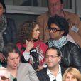 Sébastien Folin et sa femme Ketty Pausé aux Internationaux de France de tennis de Roland-Garros à Paris, le 1er juin 2014.
