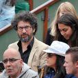 Manu Katché et sa femme Laurence aux Internationaux de France de tennis de Roland-Garros à Paris, le 1er juin 2014.