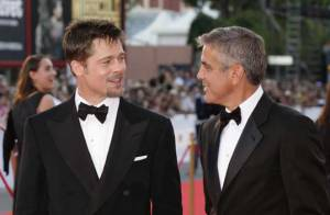 REPORTAGE PHOTOS : George Clooney et Brad Pitt à Venise... qui est le plus glamour ?