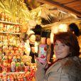 Véronique Genest - People lors de l'inauguration du marché de Nöel sur le Parvis de la Défense, le 27 novembre 2014.27/11/2014 - La Défense