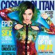 Katy Perry en couverture du magazine Cosmopolitan, daté du mois de juillet 2014.