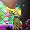 """Katy Perry en concert à Belfast dans le cadre de son """"Prismatic Tour"""". Le 7 mai 2014."""