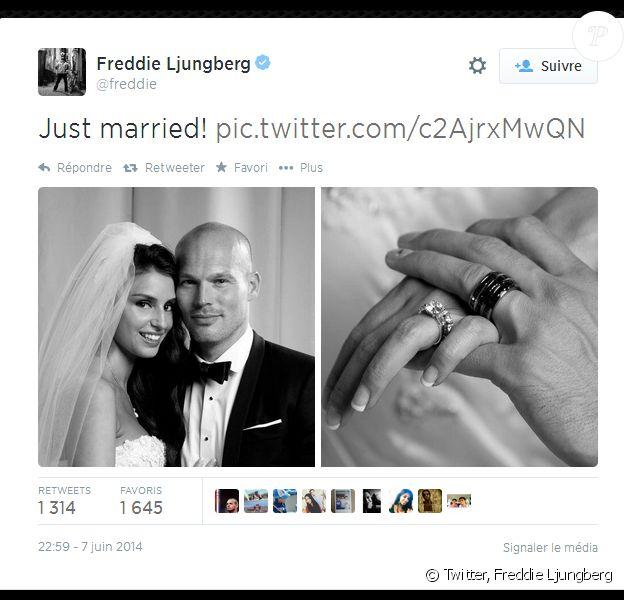 Freddie Ljungberg a épousé sa belle Natalie Foster le 7 juin 2014 au Museum d'histoire naturelle de Londres