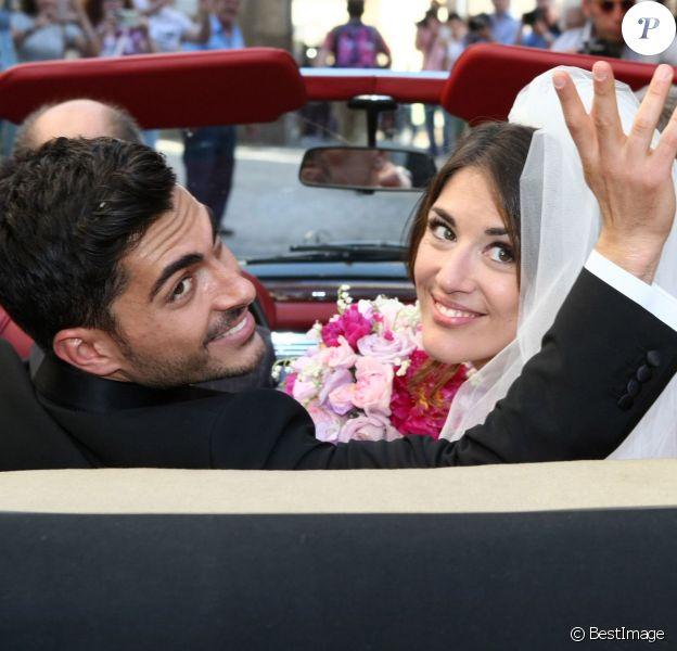 L'entraîneur du Real Madrid, Carlo Ancelotti marie sa fille Katia dans la ville de Capua en Italie le 5 juin 2014.
