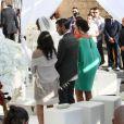 L'entraîneur du Real Madrid Carlo Ancelotti marie sa fille Katia dans la ville de Capua en Italie le 5 juin 2014.