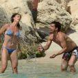 Flavia Pennetta et Fabio Fognini, amoureux à Ibiza le 9 juin 2014