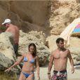 Flavia Pennetta et Fabio Fognini, se détendent après Roland-Garros à Ibiza le 9 juin 2014