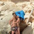 Flavia Pennetta et Fabio Fognini, le couple du tennis se détend à Ibiza le 9 juin 2014