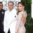Jennifer Lopez et Casper Smart lors de la 70eme soirée des Golden Globe Awards à Beverly Hills, le 13 janvier 2013.