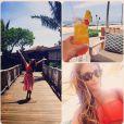 Lea Michele se détend à  Hawa, le 8 juin 2014.
