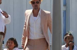 PHOTOS : Brad Pitt, le papa dandy rentre à la maison !