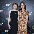 Exclusif - Marie Le Fort et Sonia Sieff au 23ème Prix Montblanc de la Culture 2014 en France à la Fondation Rosenblum à Paris le 11 juin 2014.