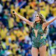 Jennifer Lopez lors de la cérémonie d'ouverture du Mondial 2014 à Sao Paulo, le 12 juin 2014.