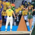 Jennifer Lopez, Pitbull et Claudia Leitte lors de la cérémonie d'ouverture du Mondial 2014 à Sao Paulo, le 12 juin 2014.