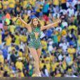 Jennifer Lopez lors de la cérémonie d'ouverture de la Coupe du monde 2014 à São Paulo au Brésil, le 12 juin 2014.