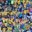 Jennifer Lopez lors de la cérémonie d'ouverture de la Coupe du monde 2014 à Sao Paulo au Brésil, le 12 juin 2014.