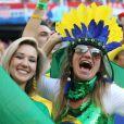 Ambiance lors du match d'ouverture de la Coupe du Monde entre le Brésil et la Croatie à São Paulo au Brésil, le 12 juin 2014.