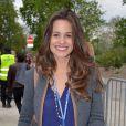 Lucie Lucas à la Foire du Trone. Paris, le 4 avril 2014.