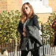 Jade Jagger et sa fille Assisi Lola Jackson, enceintes, arrivent à leur baby shower organisée par Jerry Hall chez elle à Londres, le 15 mars 2014.