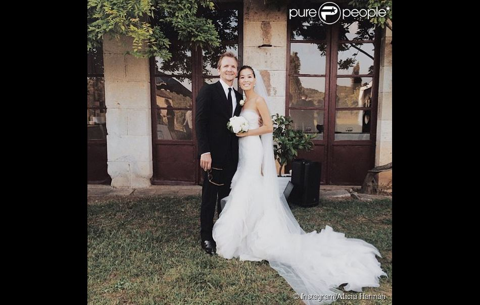 Sebastian Roché et Alicia Hannah, photo postée sur Instagram le 17 juin 2014.