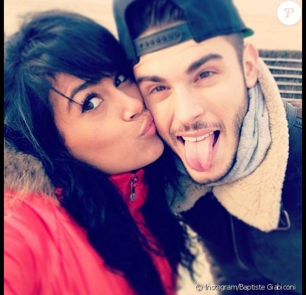 Baptiste Giabiconi et sa chérie Sarah, le 13 mars 2014.