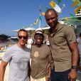 Ian Wright, avec Rio Ferdinand et Patrick Vieira, phot publiée sur son compte Twitter le 15 juin 2014