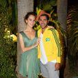 Mélissa Theuriau et son amoureux Jamel Debbouze lors de l'after-party de la clôture du Marrakech du rire le 14 juin 2014