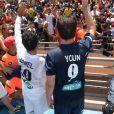 """Jamel Debbouze - Un """"Charity Game du Marrakech du Rire 2014"""", match de foot caritatif, a été organisé, permettant de reverser 300 000 dirhams (27 000 euros) aux associations """"Al Karam"""" et """"L'Heure Joyeuse"""" le 15 juin 2014."""