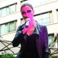 """Exclusif - Sandrine Quétier et son groupe """"The Jokers"""", composé de Santi, Ludo et Thomas, ont joué au Mandarin Oriental à l'occasion de la Fête de la Musique à Paris. Le 21 juin 2014."""