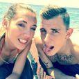 Lucas Digne et sa compagne Tiziri, image publiée sur Twitter le 2 juin 2014