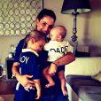 Marine Lloris, l'épouse d'Hugo Lloris, avec leurs enfants, image publiée sur Twitter le 20 juin 2014