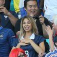 Fanny, la compagne de Mathieu Valbuena lors du match de l'équipe de France et la Suisse au stade Fonte Nova à Salvador de Bahia au Brésil, le 20 juin 2014