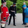 La reine Elisabeth II et le prince Philip arrivent au château de Hillsborough à Belfast, le 23 juin 2014.