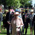 La reine Elizabeth II lors du cinquième et dernier jour de courses du Royal Ascot, à  Berkshire, le 21 juin 2014 .