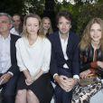 Sidney Toledano, Delphine Arnault, Antoine Arnault et Natalia Vodianova - Défilé Berluti à l'Ecole des Mines, collection homme printemps-été 2015 à Paris le 27 juin 2014.