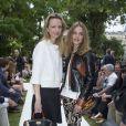 Delphine Arnault et Natalia Vodianova - Défilé Berluti à l'Ecole des Mines, collection homme printemps-été 2015 à Paris le 27 juin 2014.