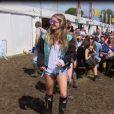 Cressida Bonas lors du festival de Glastonbury du 27 au 29 juin 2014.