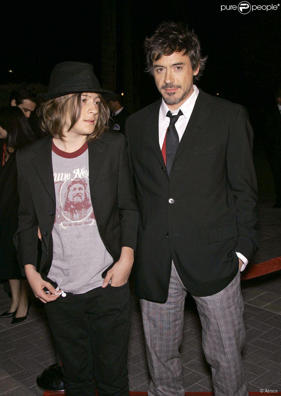 Robert Downey Jr. et son fils Indio à Los Angeles, le 1er mars 2007.
