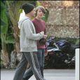 Robert Downey Jr. et son fils Indio à Santa Monica à Los Angeles le 14 décembre 2007.